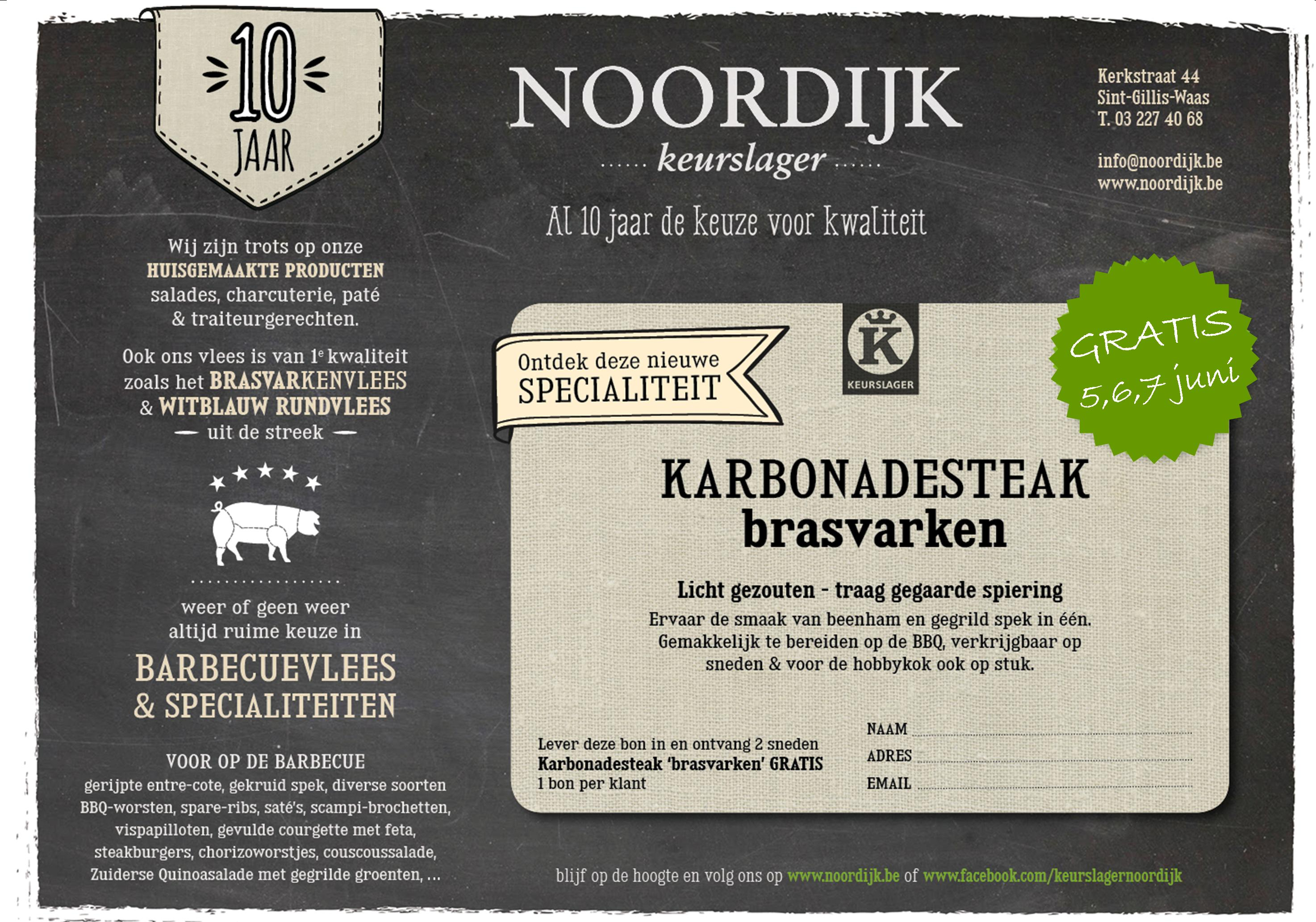 Bon brasvarken karbonadesteak